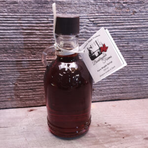 250 ml glass jug of 100% pure Canadian maple syrup