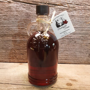 500 ml glass jug of 100% pure Canadian maple syrup