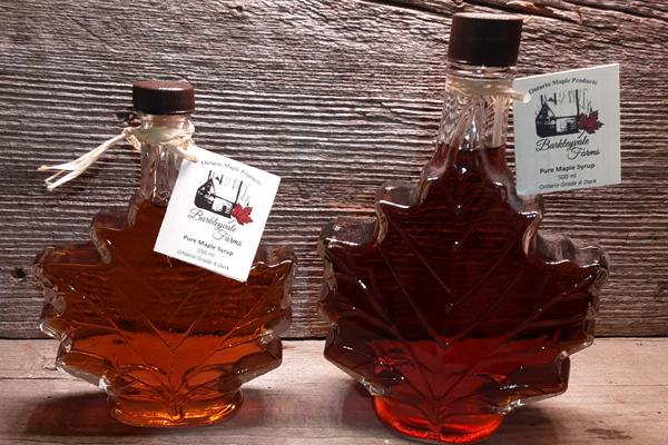 Maple Leaf Glass Bottles