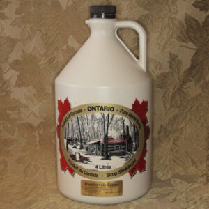 4L Plastic Jug of 100% Pure Canadian Maple Syrup