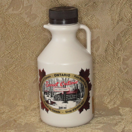 500mL Plastic Jug of 100% Pure Canadian Maple Syrup
